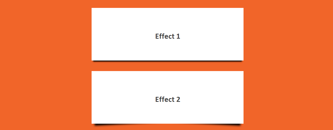 Different CSS3 Box Shadows Effects